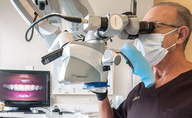 Dr. Rifkin utilizes microscope technology to create perfect and natural smiles.