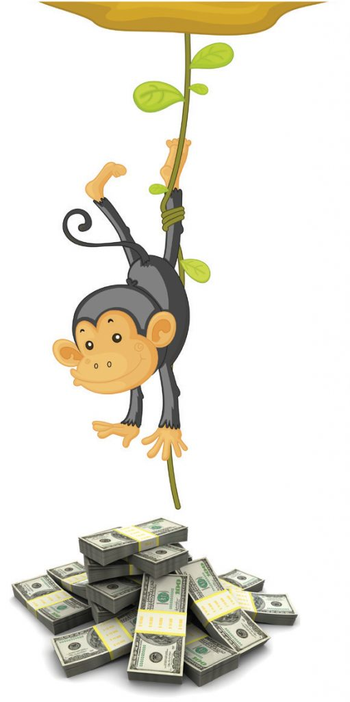 monkey hanging w money (2)