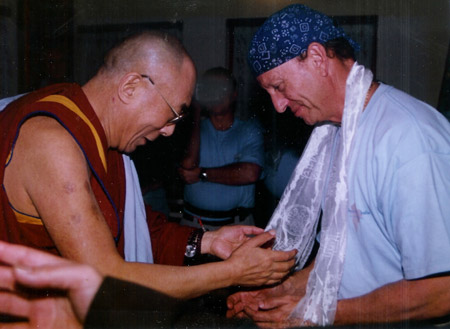Dr. Fredric Corbin meeting His Holiness, the Dalai Lama